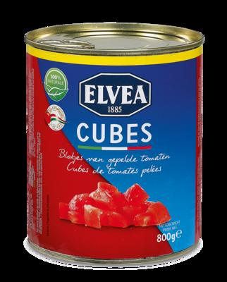 Cubes - Elvea Blokjes van gepelde tomaten 800 g